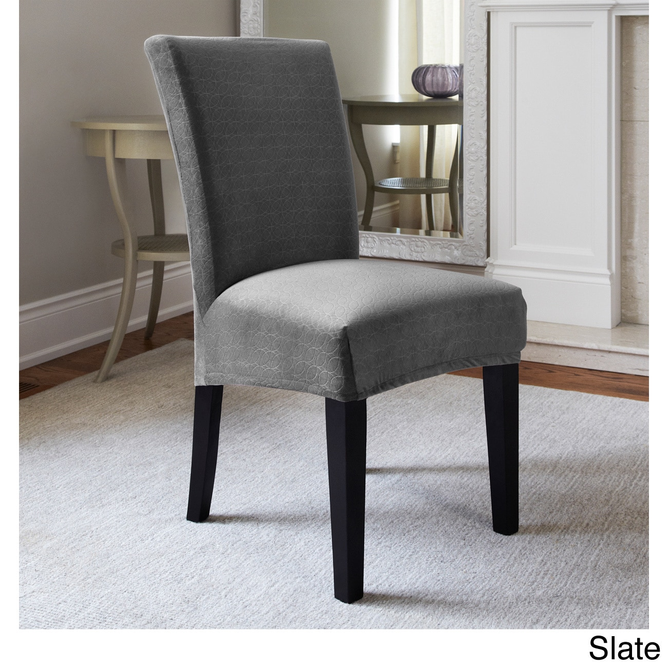 chair covers overstock cheap accent chairs for sale maude stretch dining slipcover shopping