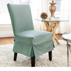 Dining Chair Slipcover Wheelchair For Stairs Shop Quickcover Twill Mid Pleat Relaxed Fit With Buttons