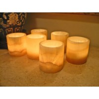 alabaster candle holders - pair of alabaster candlesticks ...