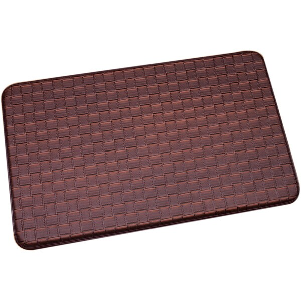Shop Brown Memory Foam Chef Design Kitchen Floor Mat  On Sale  Free Shipping On Orders Over