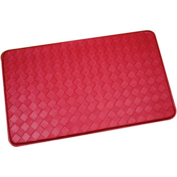 Shop Red Memory Foam Antifatigue Kitchen Floor Mat  Free
