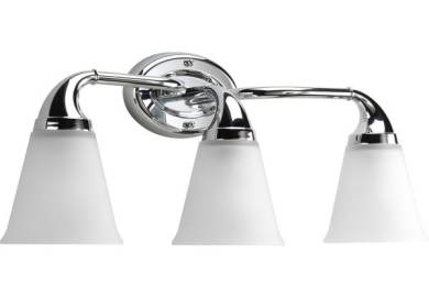 Progress Lighting Archie Collection 3 Light Chrome Bath