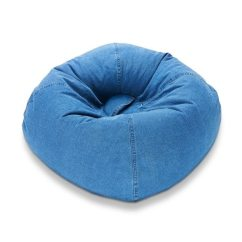 Denim Bean Bag Chair Casters Walmart Shop Ace Casual 98-inch - Free Shipping Today Overstock.com 9361252