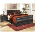 Signature design by ashley huey vineyard black sleigh bed 16557608