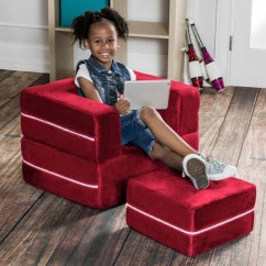 Kids Chair And Ottoman Crushed Velvet Bed Shop Zipline Modular By Jaxx Free Shipping