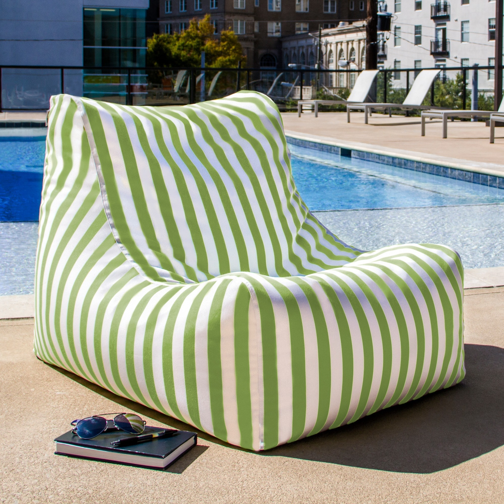 Outdoor Bean Bag Chairs Green Bean Bag Chair Outdoor In Door Best Cushion Ebay