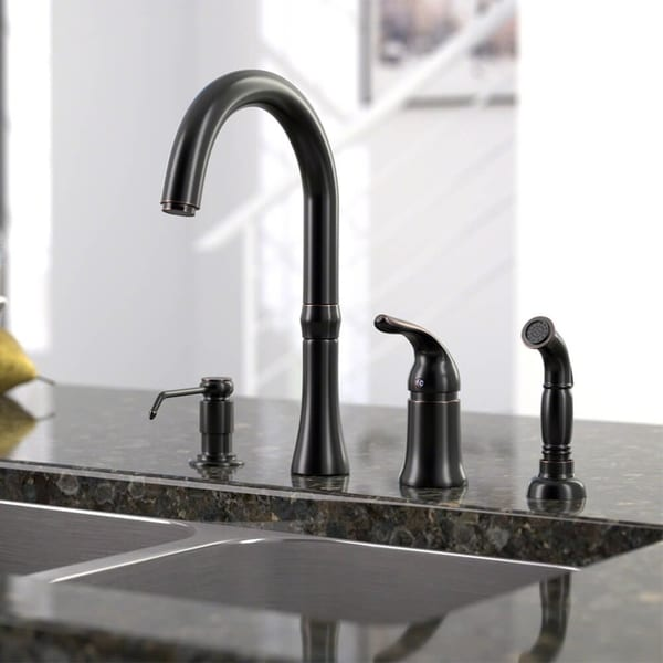 Shop Sir Faucet 4hole Widespread Kitchen Faucet  Free