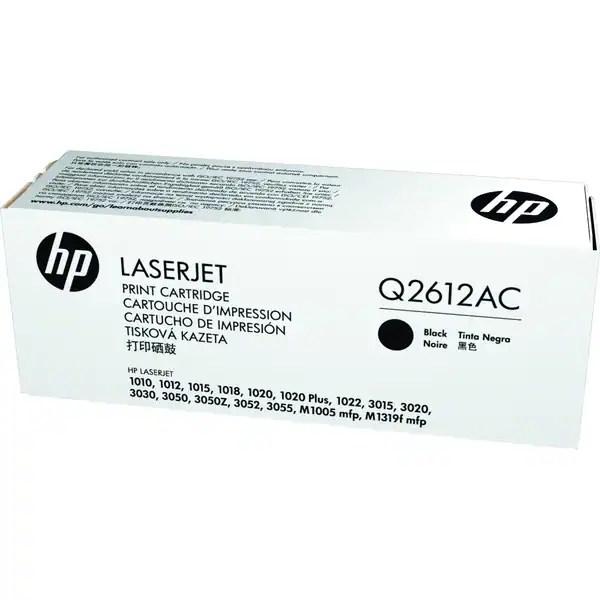 Shop HP Q2612AC Black Contract Original LaserJet Toner