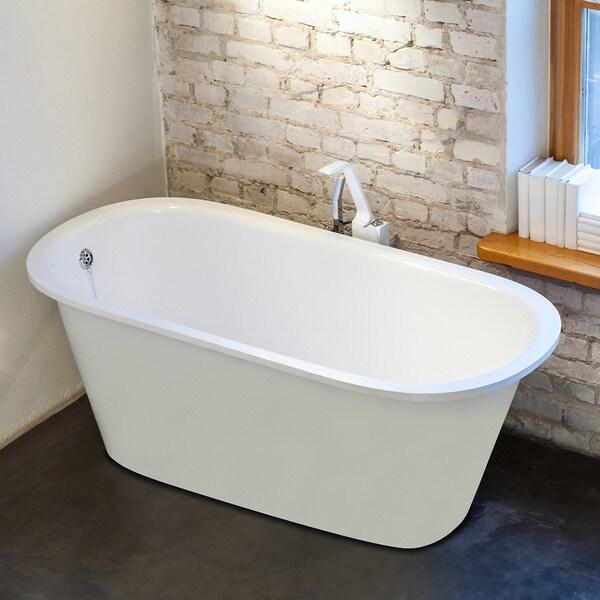 Shop Aquatica Inflection Freestanding Cast Stone Bathtub Free Shipping Today