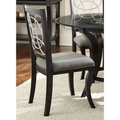 Grey Upholstered Dining Chairs Patio Chair Repair Material Shop Greyson Living Calypso Black Charcoal
