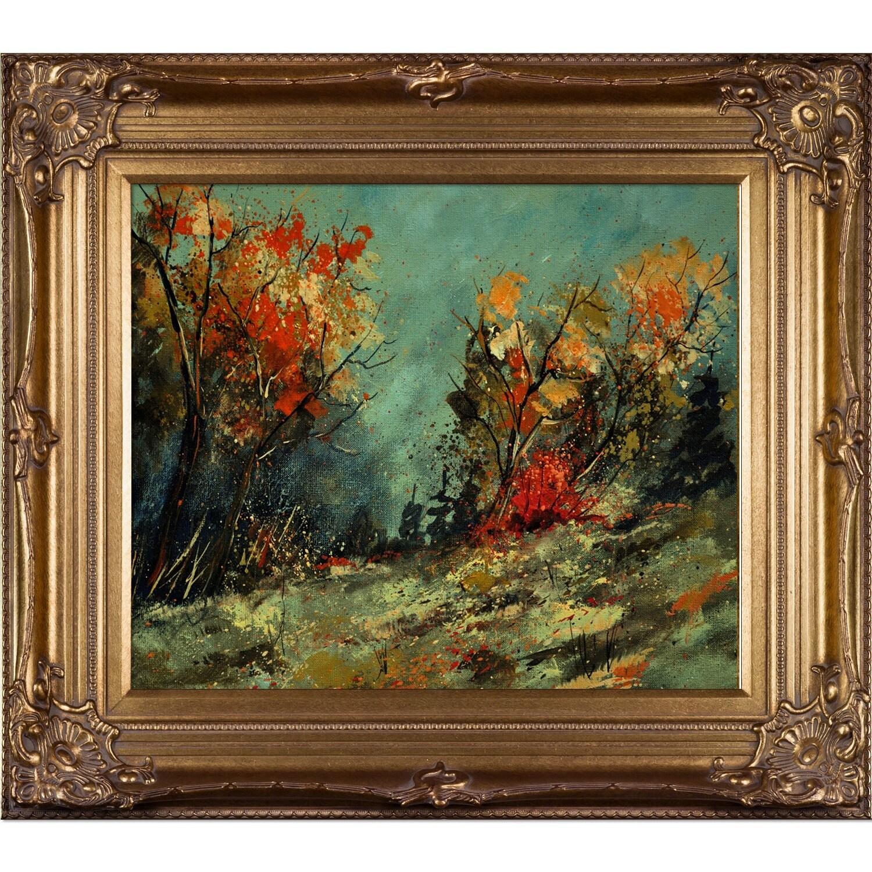 Pol Ledent 'Autumn landscape 452101' Framed Print Art