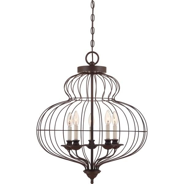 Shop Quoizel Laila 5-light Rustic Antique Bronze Cage