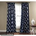 Exclusive fabrics casablanca rose rod pocket blackout curtain panel