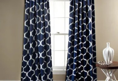 Black Geometric Curtains