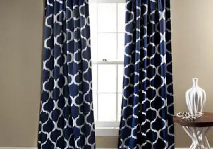 Black Geometric Curtains