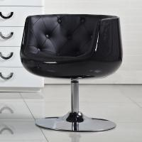 Kacey Futuristic Fiberglass and Leatherette Chair