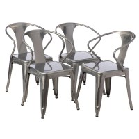 Shop Tabouret Gunmetal Tabouret Stacking Chair (Set of 4 ...