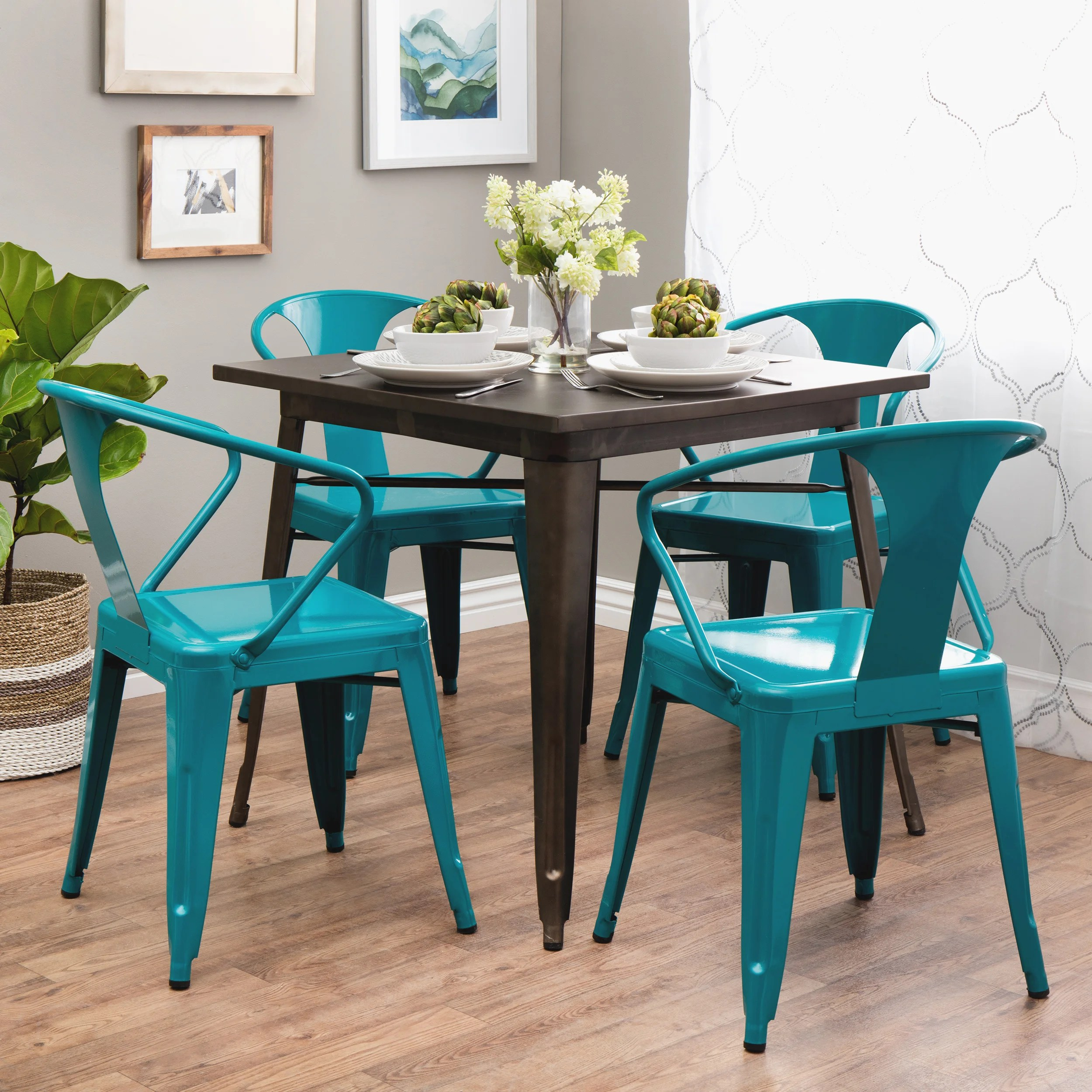 stackable metal chairs swivel rocker peacock tabouret stacking chair set of 4 ebay