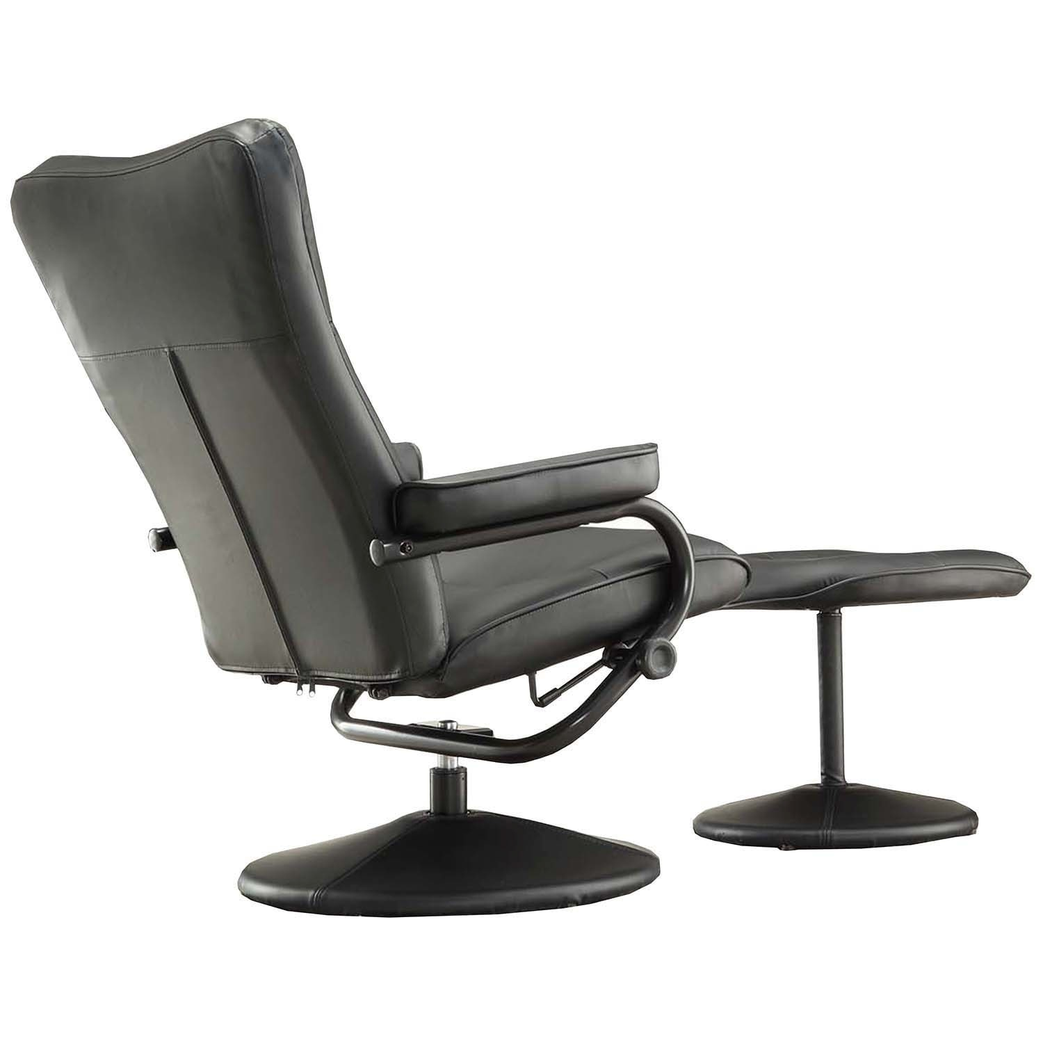 modern leather recliner swivel chair wobble olivia bonded with ottoman