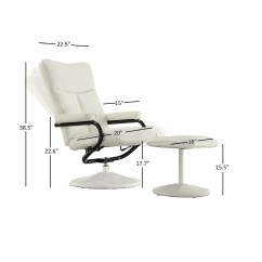 Swivel Chair Harvey Norman How To Make Doll Chairs White Leather Recliner Declan 360