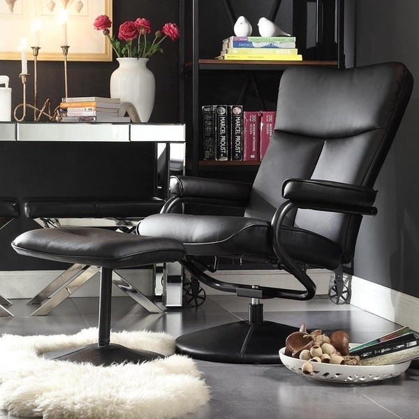 leather swivel recliner chair and ottoman ikea cotton covers shop olivia bonded with inspire q modern