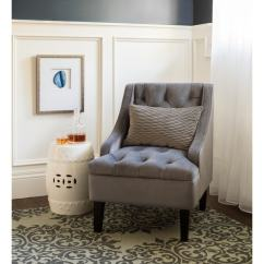 Blue Accent Chairs For Living Room Rooms With Light Grey Paint Shop Abbyson Laguna Tufted Velvet Steel Chair On Sale