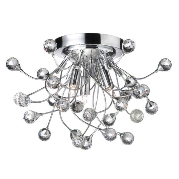 Shop 3-light Crystal Polished Chrome Semi-flush Mount