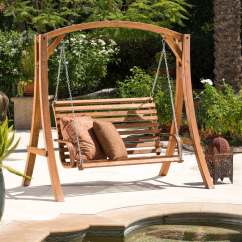 Swing Chair Deals Queen Throne Christopher Knight Home Tulip Outdoor Wood Swinging