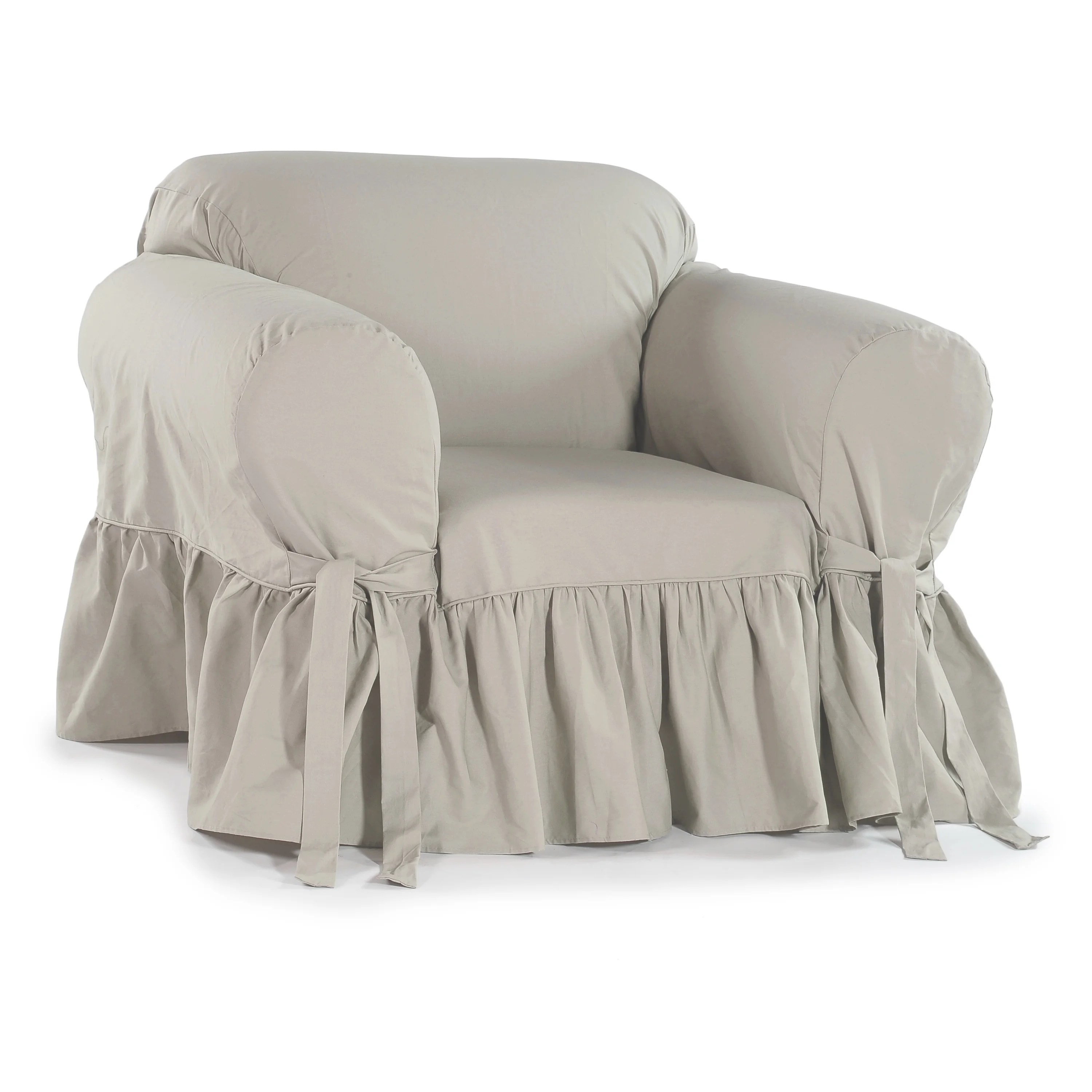 chair covers overstock office warmer ruffled cotton arm slipcover shopping