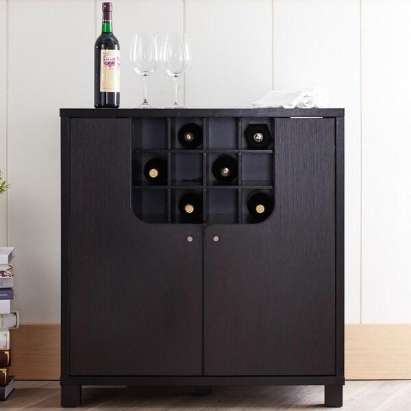 Shop Furniture of America Bento Cappuccino Modern Wine