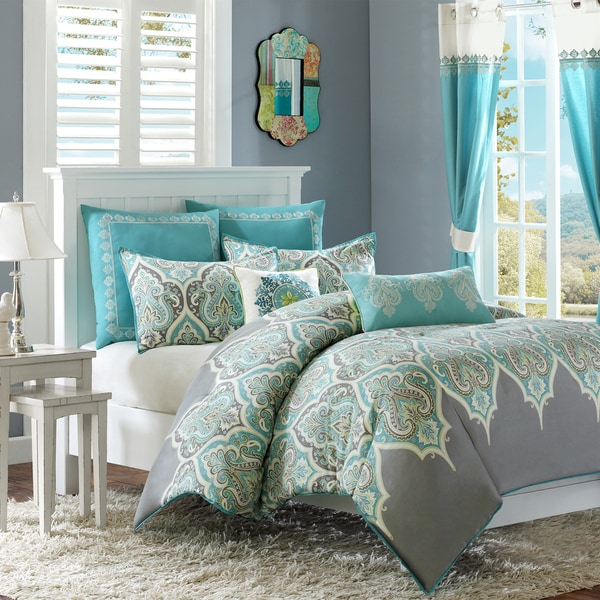 Madison Park Tara Cotton 7 Piece Comforter Set Including