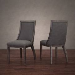 Overstock Com Dining Room Chairs Waiting Vinyl Park Avenue Smoke Linen Chair (set Of 2) - Free Shipping Today Overstock.com 16670547