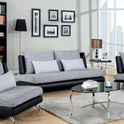 Material And Leather Sofa Ex Display Sofas Wakefield Shop Furniture Of America Kanchy Two Tone Fabric