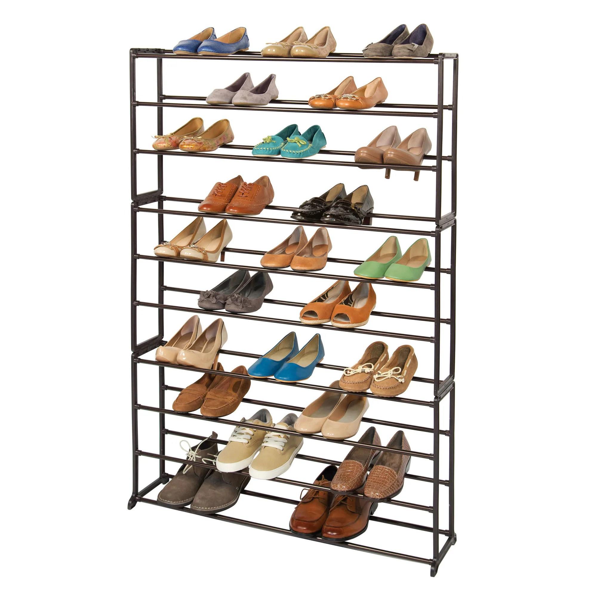 richards homewares 50 pair standing bronze shoe rack