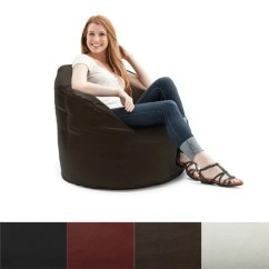 Big Joe Bean Bag Chair Reviews Broyhill Executive Beansack Milano Vegan Leather - Free Shipping Today Overstock.com ...