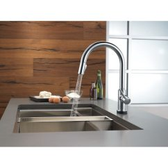 Delta Trinsic Kitchen Faucet Filter System Single Handle Pulldown With