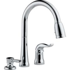 3 Piece Kitchen Faucet Rolling Cart Shop Kate Pull Down And Soap Dispenser Free Shipping Today Overstock Com 9540579
