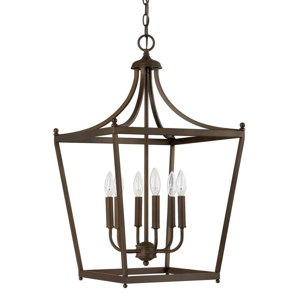 stanton 6 light burnished bronze foyer pendant
