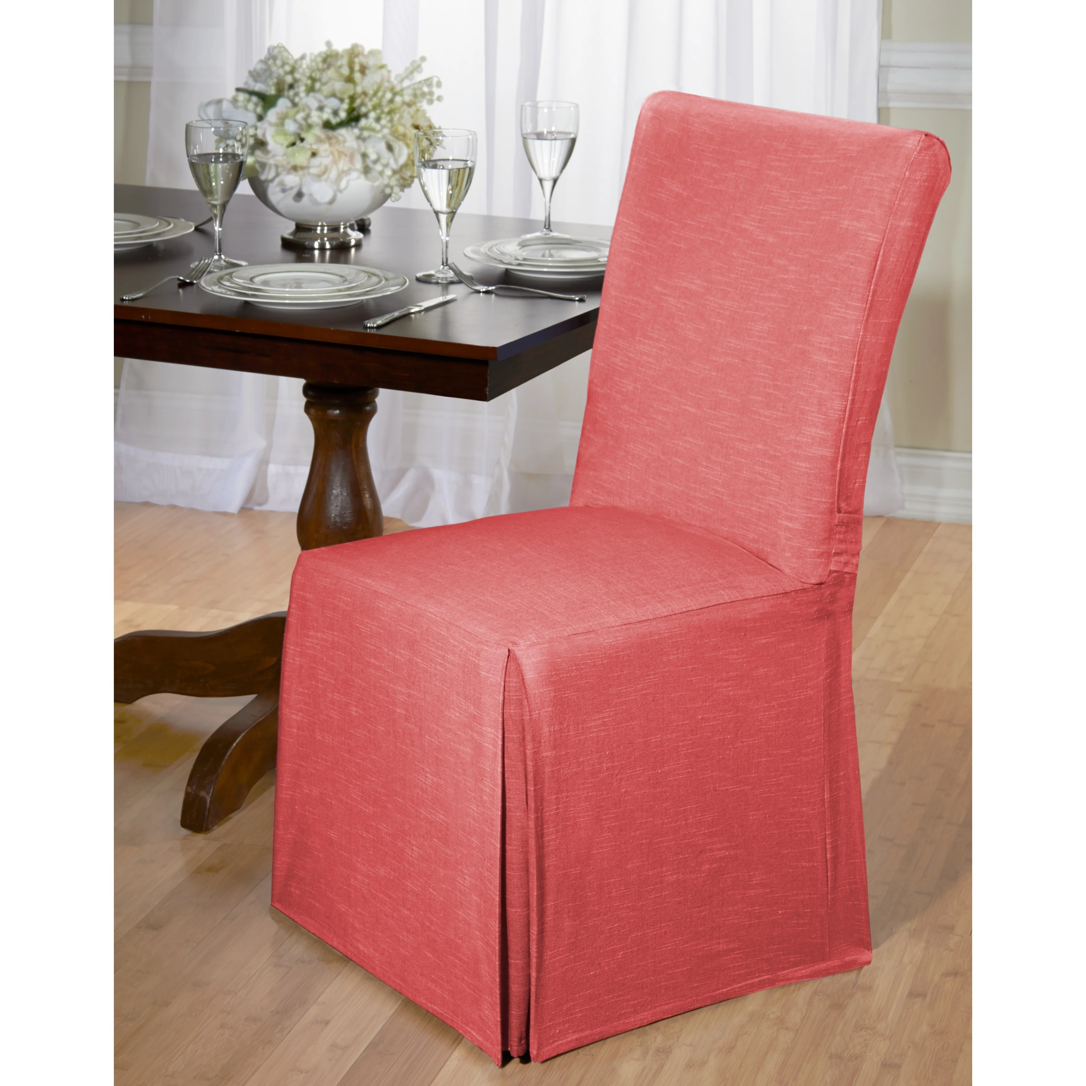 dining room chair seat covers target hanging patio chambray cotton slipcover ebay