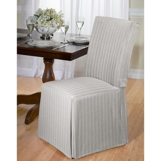 gray chair slipcover outdoor rocking set buy grey covers slipcovers online at overstock com our cotton herringbone dining