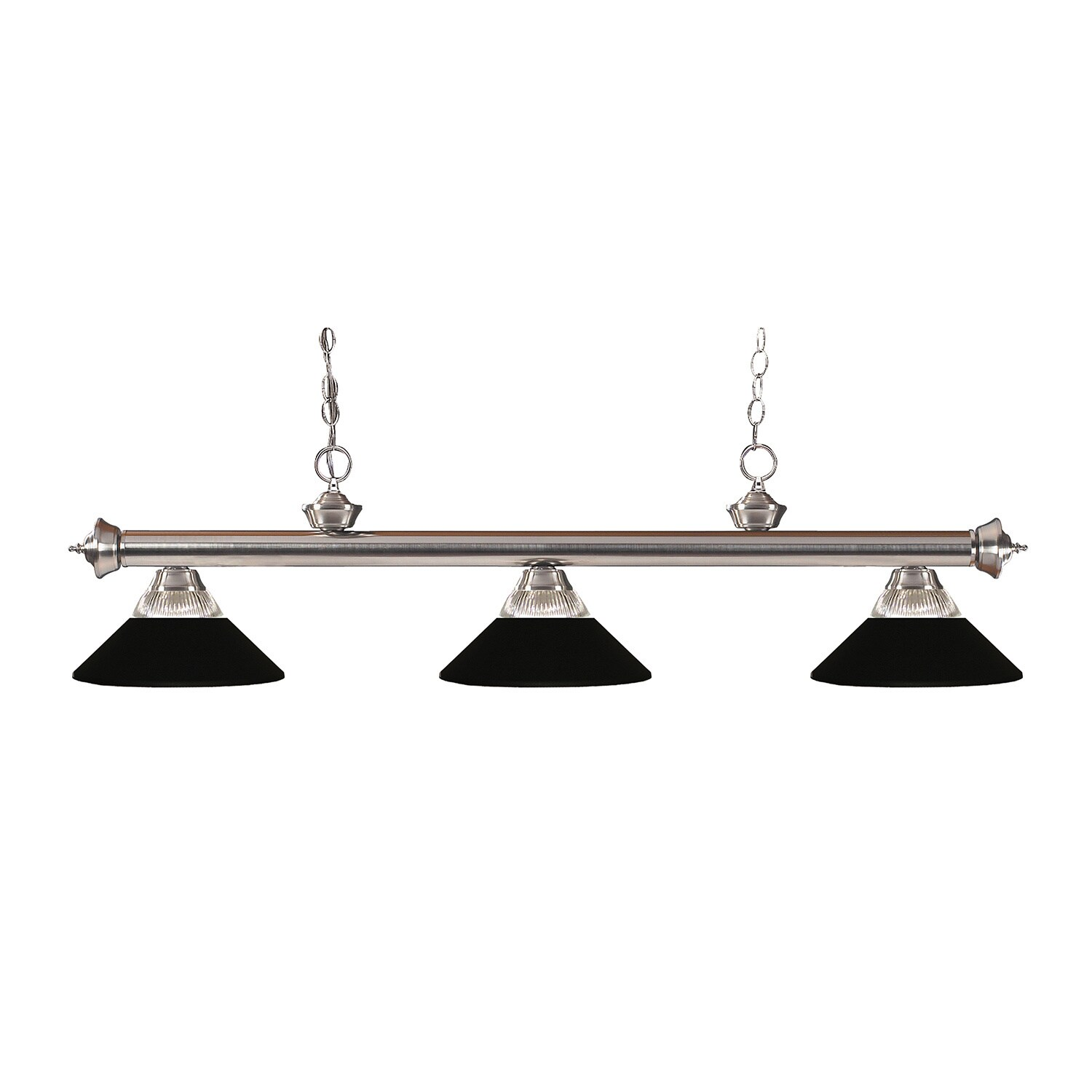 Avery Home Lighting 3 Light Riviera Brushed Nickel Clear