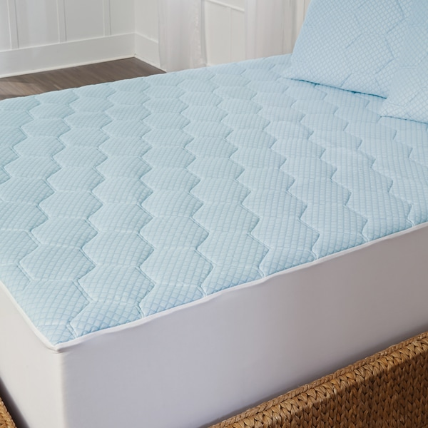 Shop Arctic Sleep Cool Gel Memory Foam Mattress Pad  Blue