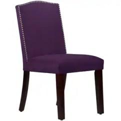 Safavieh Karna Dining Chair Black Bonded Leather Purple Room Chairs - Overstock.com