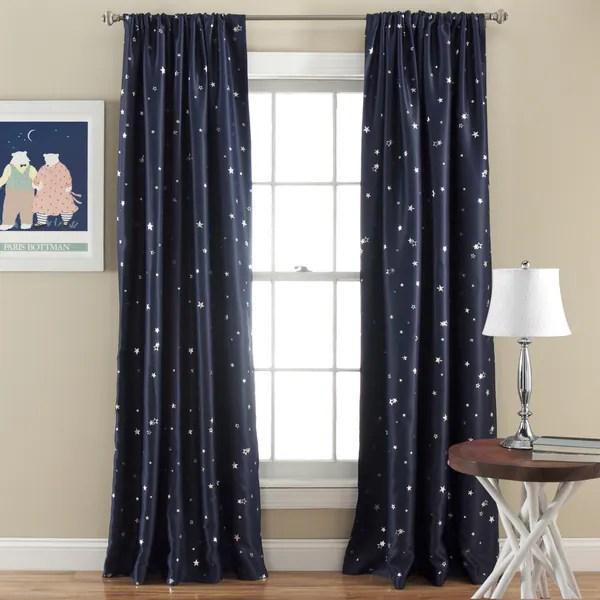 Shop Lush Decor Star Room Darkening Window 84inch Curtain