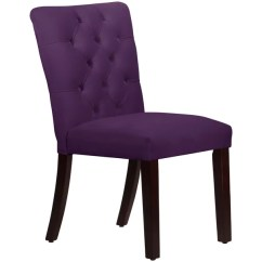 Purple Dining Chairs Canada Chair Cover Rentals Alexandria Va Shop Made To Order Tufted Mor In Velvet Aubergine