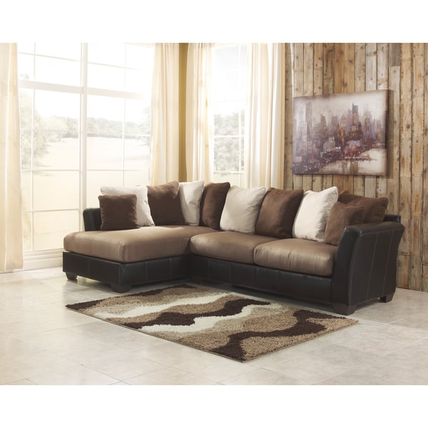 sofa and more milano bed uk shop signature design by ashley masoli 2 piece mocha corner chaise sectional free shipping today overstock com 9579464