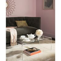 Shop Safavieh Atka Clear Acrylic Coffee Table - Free ...