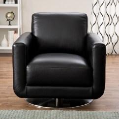 Natuzzi Swivel Chair Folding At Target Shop Siena Black Italian Leather Free