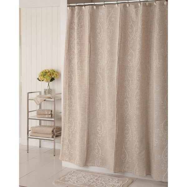 Shop Lenox French Perle Shower Curtain Beige 70 X 72 Free Shipping On Orders Over 45