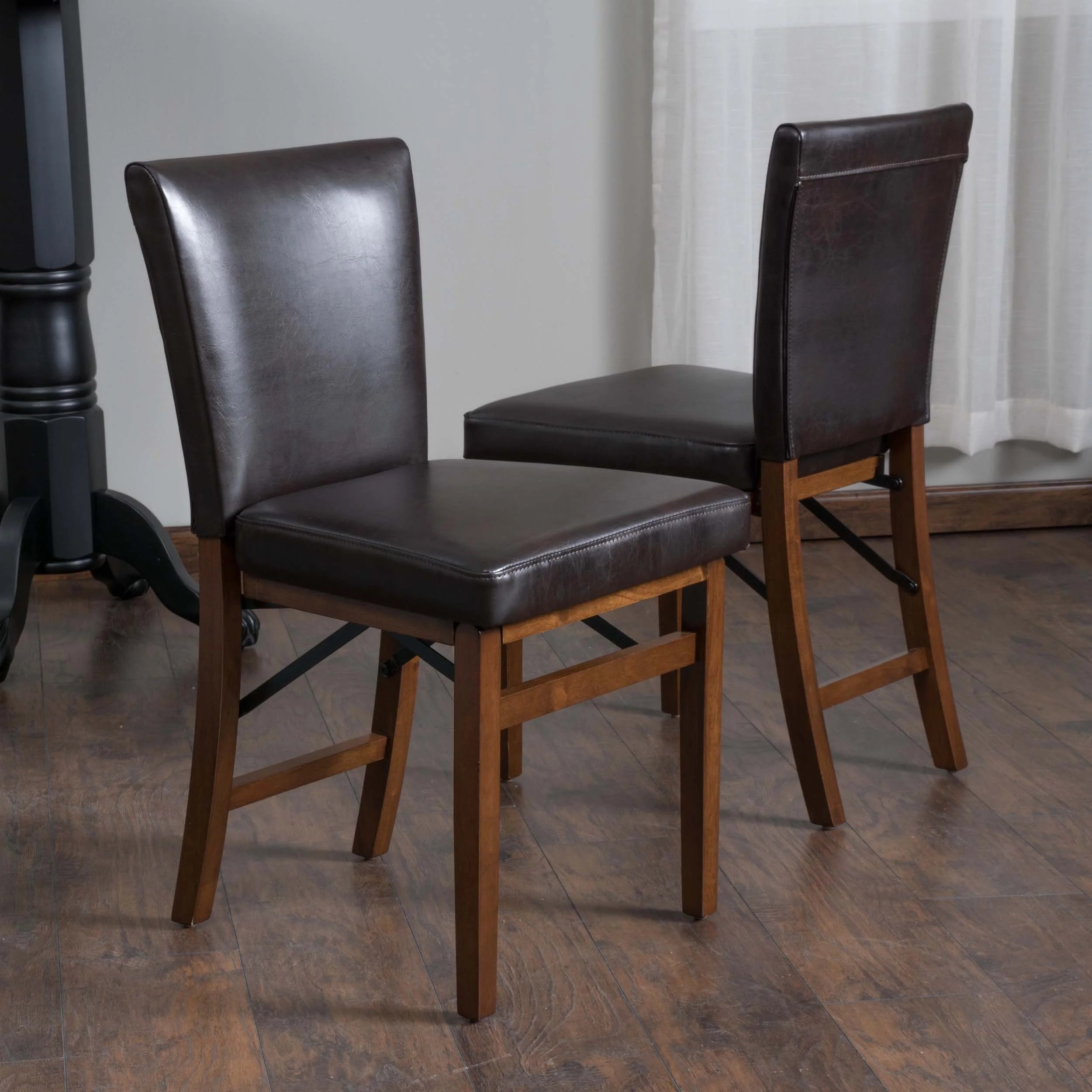 christopher knight leather chair farmhouse kitchen table and chairs sets home lane bonded folding dining